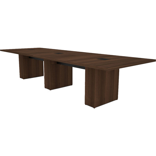 Middle Atlantic T5 Conference Table, Sota Style 12' with Self Edge (Sepia Walnut Veneer)