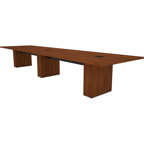 Middle Atlantic T5 Conference Table, Sota Style 16' with Self Edge (Glamour Cherry HPL)