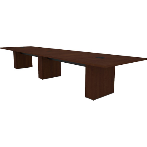 Middle Atlantic T5 Conference Table, Sota Style 16' with Self Edge (Scarlett Cherry Veneer)