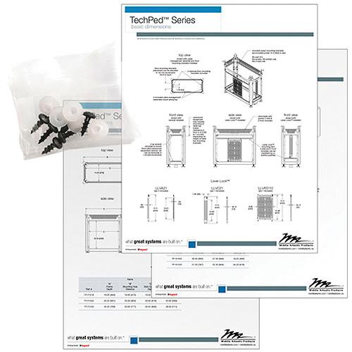 Middle Atlantic TP-MK1 Custom Finishing Millwork Kit for TechPed Series