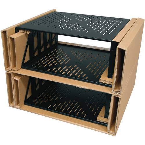"Middle Atlantic U4V-4 Pack of 4 7"" Vented Universal Rack Shelf"