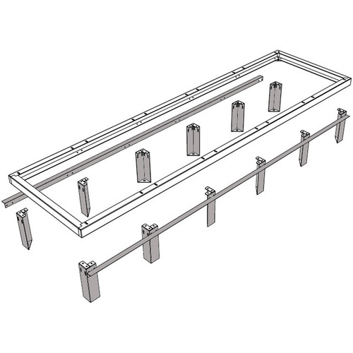 "Middle Atlantic VFEET-1-4.5 1-Bay 4.5"" Riser Feet Set for Raised Floor Installation"