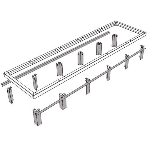 "Middle Atlantic VFEET-3-4.5 3-Bay 4.5"" Riser Feet Set for Raised Floor Installation"