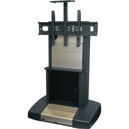 "Middle Atlantic Mobile Videoconferencing/Presentation Cart with Dual Capacity for 42-55"" Displays (12 RU, Natural Nickel)"