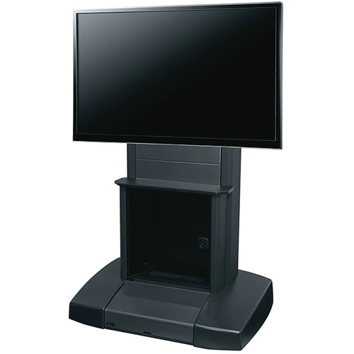 "Middle Atlantic VTC Video Cart with 12 Space Rack for 42-80"" Single Display"
