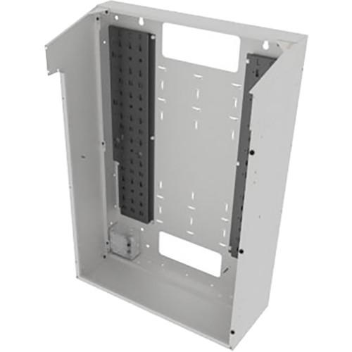 "Middle Atlantic VWM Series Split Door Back Pan (42"" Height, 10"" Depth, White Finish)"