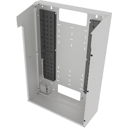 "Middle Atlantic VWM Series Split Door Back Pan (42"" Height, 16"" Depth, White Finish)"
