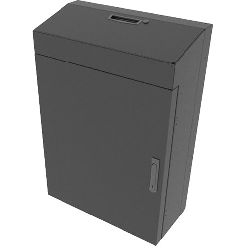 """Middle Atlantic Pre-Configured 4 RU Low-Profile Wall Rack with 30"""" Usable Depth & Solid Top (Black)"""