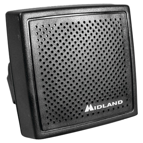 "Midland High-Performance 20W Mobile Speaker with Swivel Base & 70"" Cable for CB Radio"