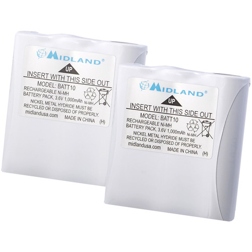 Midland Rechargeable NiMH Batteries for X-Talker T71/T75 (2-Pack)