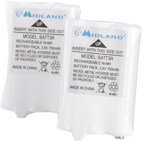 Midland AVP14 Rechargeable NiMH Batteries for X-Talker T51/T61 (Set of 2)