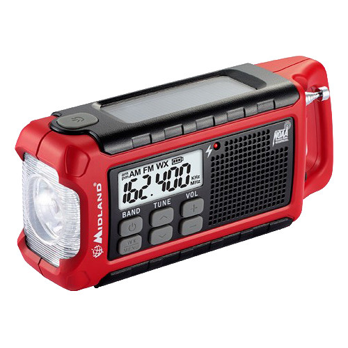 Midland E+Ready ER210 Emergency Crank Weather Alert Radio