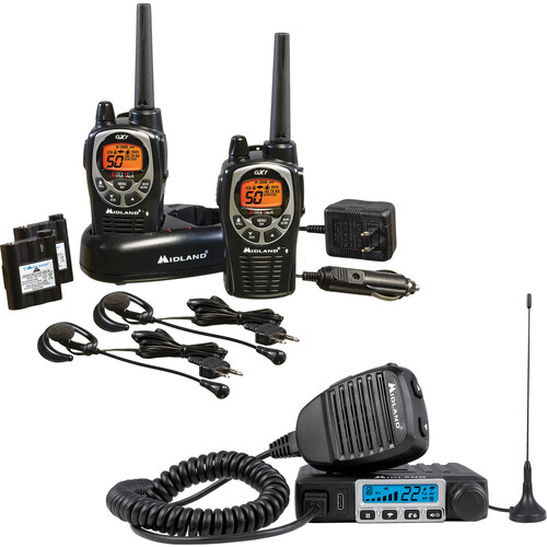 Midland MicroMobile-GXT Bundle with MXT115 GMRS Radio & GXT1000VP4 Two-Way GMRS Radios