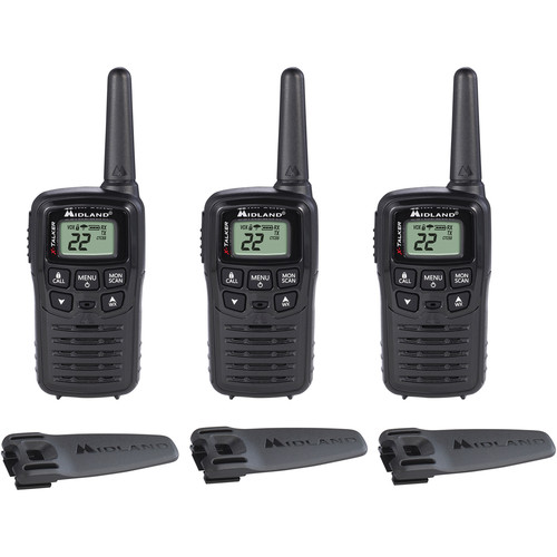 Midland X-Talker T10 22-Channel Two-Way UHF Radio (3-Pack)