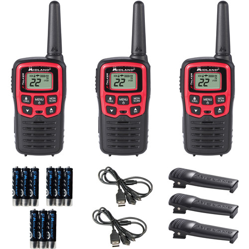 Midland X-Talker T31 22-Channel Two-Way UHF Radio (Pack of 3)