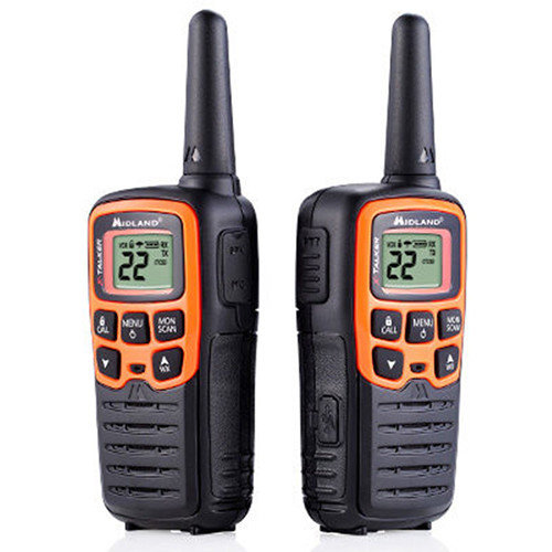 Midland X-Talker T51VP3 22-Channel Two-Way UHF Radio (2-Pack, Orange)