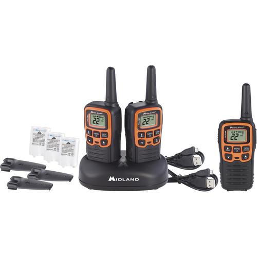 Midland X-Talker T51VP3 22-Channel Two-Way UHF Radio (3-Pack, Orange)