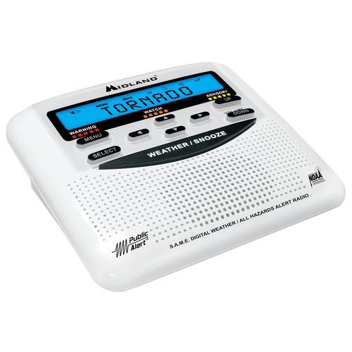 Midland WR-120 Emergency Weather Alert Radio With Alarm Clock