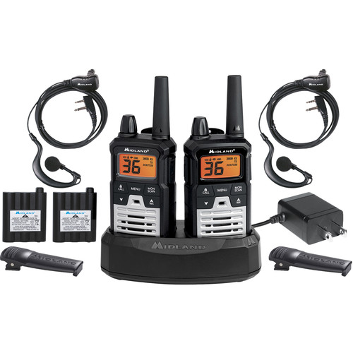 Midland X-Talker T290VP4 Two-Way Communication Radio (Black/Gray, Pair)