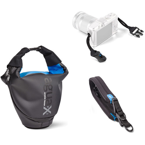 miggo Agua 25 Stormproof Holster for Mirrorless Cameras (Black-Blue)