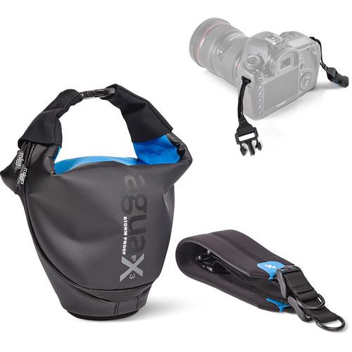 miggo Agua 45 Stormproof Holster for Large DSLR Cameras (Black-Blue)