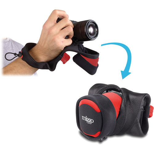 miggo Grip and Wrap for Mirrorless and Compact System Cameras (Red and Black)