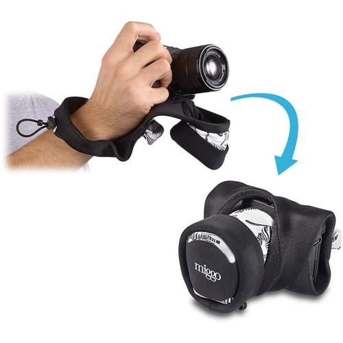miggo Grip and Wrap for Mirrorless and Compact System Cameras (Zebra Nation)