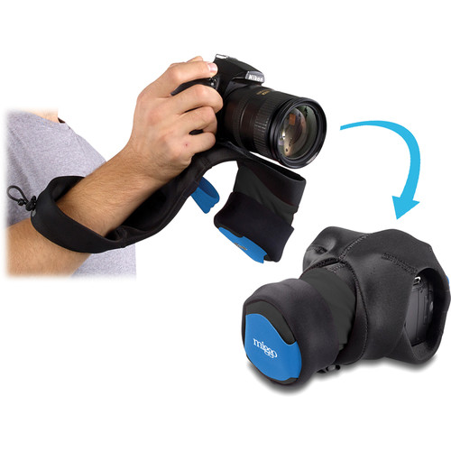 miggo Grip and Wrap for DSLR Cameras (Black and Blue)