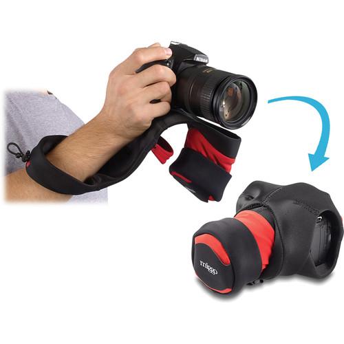 miggo Grip and Wrap for DSLR Cameras (Black and Red)