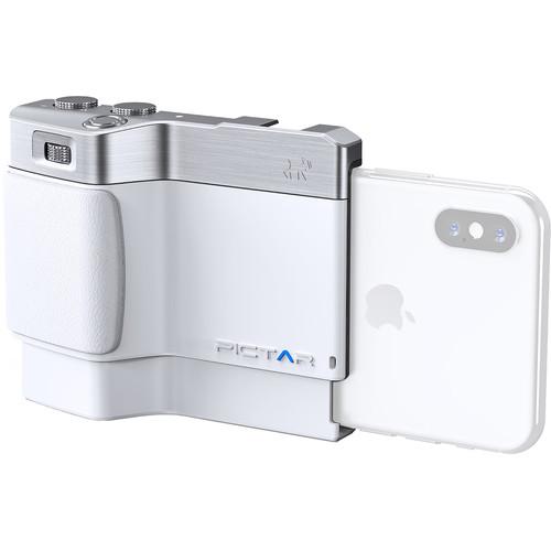 miggo Pictar One Plus Mark II Smartphone Camera Grip (Silver / Smokey White)
