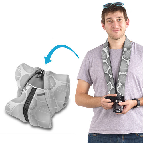 miggo Strap and Wrap for Mirrorless and Compact System Cameras (Pebble Road)