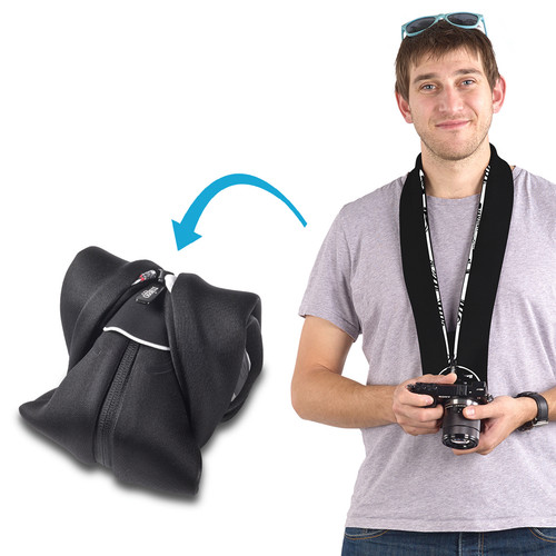 miggo Strap and Wrap for Mirrorless and Compact System Cameras (Zebra Nation)
