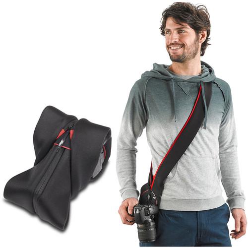miggo Strap&Wrap for DSLR, Superzoom Medium Height Camera (Red-Black)