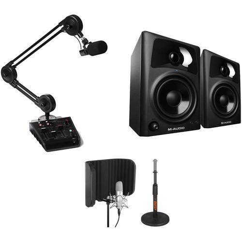 Miktek ProCast SST Studio Station USB Microphone Podcasting Kit