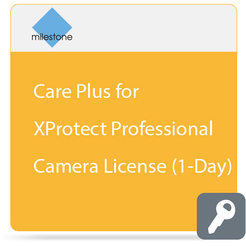 Milestone Care Plus for XProtect Professional Camera License (1-Day)