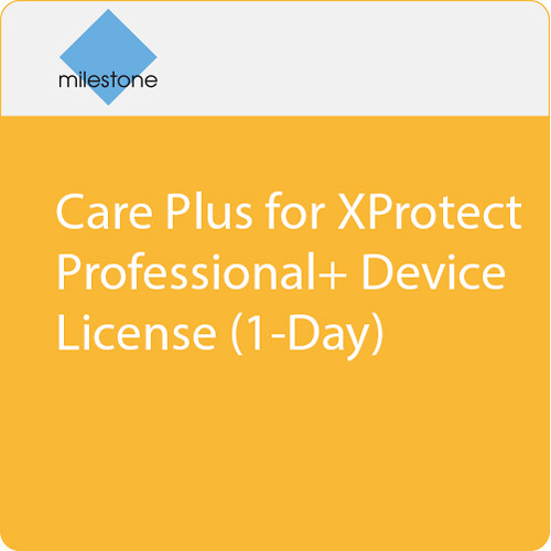 Milestone Care Plus for XProtect Professional+ Device License (1-Day)