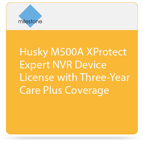 Milestone Husky M500A XProtect Expert NVR Device License with Three-Year Care Plus Coverage
