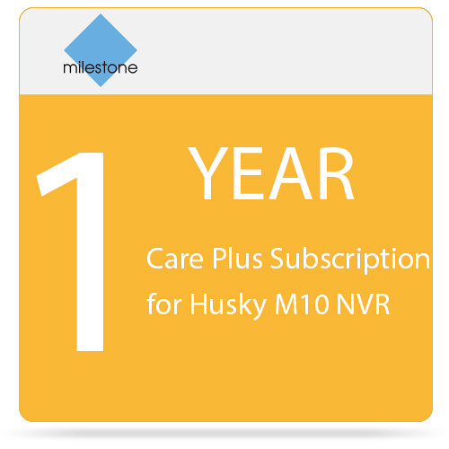 Milestone 1-Year Care Plus Subscription for Husky M10 NVR