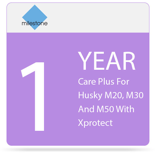 Milestone Care Plus for Husky M20, M30, and M50 with XProtect (1-Year)