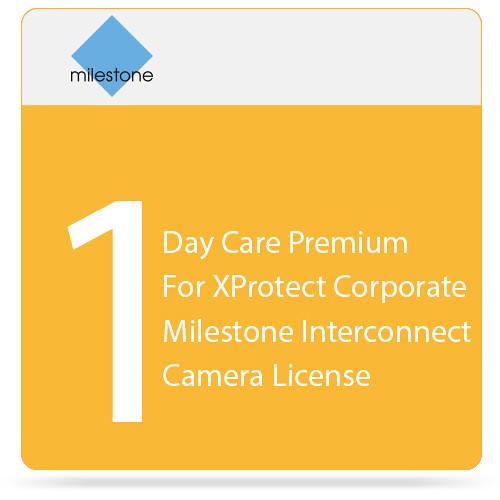 Milestone Care Premium for XProtect Corporate Interconnect Camera License (1-Day)