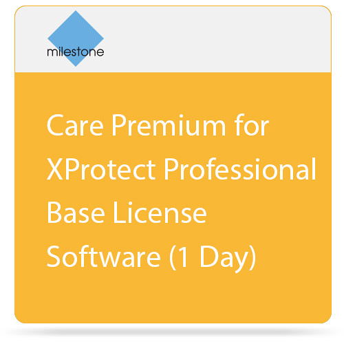 Milestone Care Premium for XProtect Professional Base License Software (1 Day)