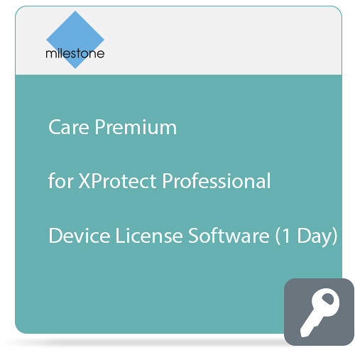 Milestone Care Premium for XProtect Professional Device License Software (1 Day)