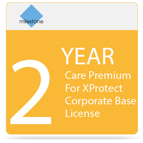 Milestone Care Premium for XProtect Corporate Base License (2-Year)