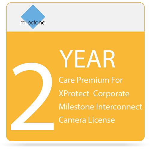 Milestone Care Premium for XProtect Corporate Interconnect Camera License (2-Year)