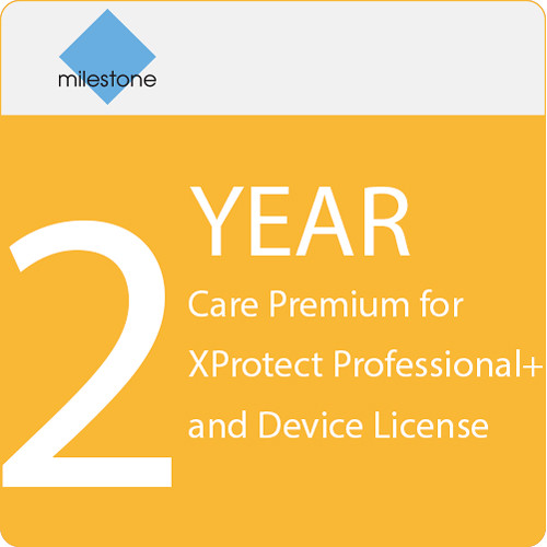 Milestone Care Premium for XProtect Professional+ & Device License (2-Year)