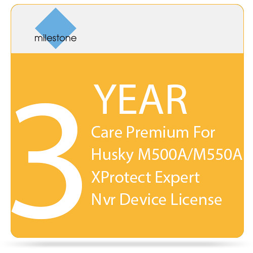 Milestone Three Years Care Premium For Husky M500A/M550A XProtect Expert Nvr Device License