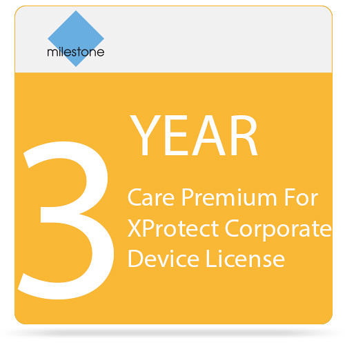 Milestone Care Premium for XProtect Corporate Device License (3-Year)