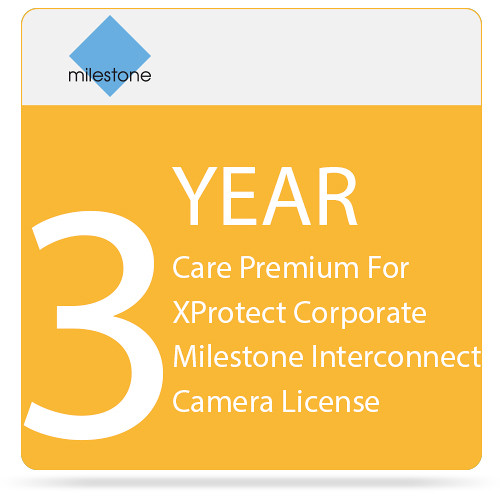 Milestone Care Premium for XProtect Corporate Interconnect Camera License (3-Year)
