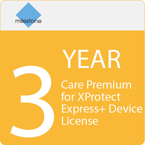 Milestone Care Premium for XProtect Express+ Device License (3-Year)