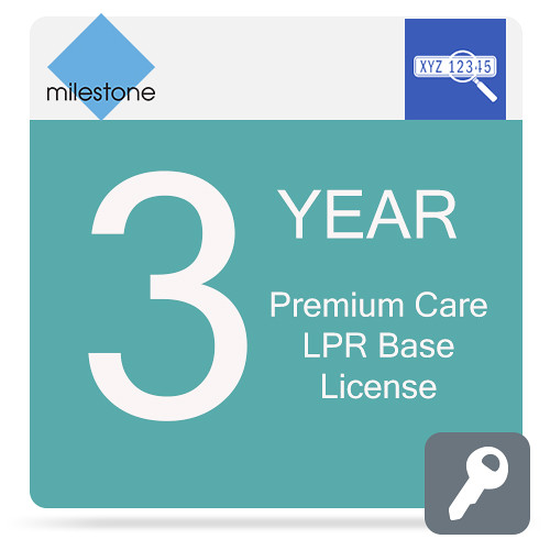 Milestone Care Premium for XProtect LPR Base License (3-Year)